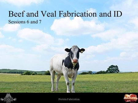 Protein Fabrication 1 Beef and Veal Fabrication and ID Sessions 6 and 7.