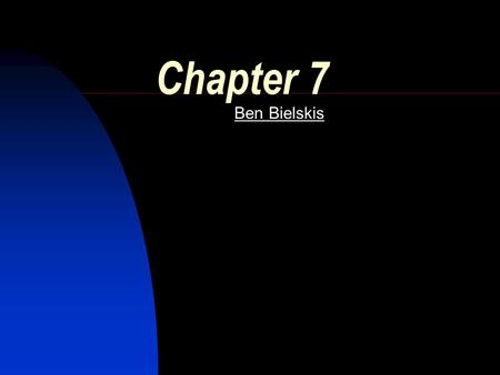 Chapter 7 Ben Bielskis WAN Wide Area Network Connects LANs over a large geographical area. WAN Link – A connection from one site to another.