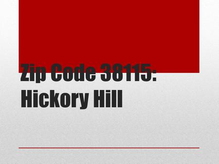Zip Code 38115: Hickory Hill. Information about the Population.