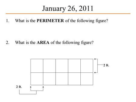 What Is The Perimeter Of Following Figure 2