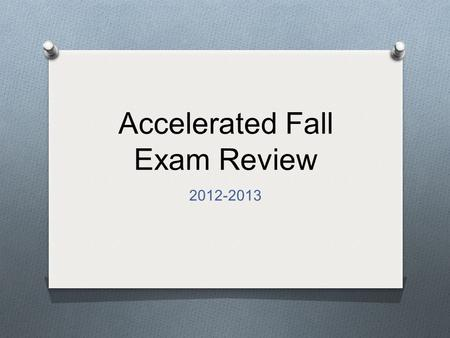 Accelerated Fall Exam Review 2012-2013. 2 Density.