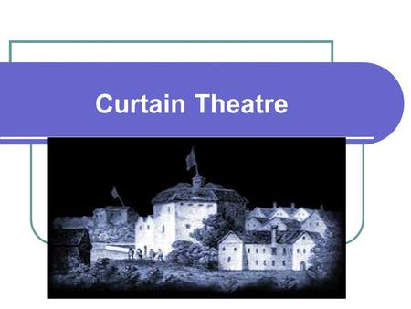Curtain Theatre. The Curtain The Curtain was used as a venue for Elizabethan plays, replacing the Inn-yard venues. The purpose built Elizabethan Amphitheatres.