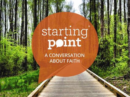 The starting point of faith for the very first Christians was not the Bible.