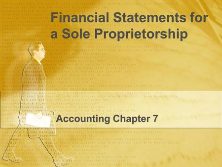Financial Statements for a Sole Proprietorship
