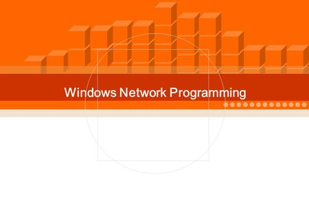 IT COOKBOOK - 0 - Windows Network Programming. Chapter 01. Intro. to Network and Socket Programming.