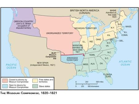 In 1819, there were 11 free states and 11 slave states. Representation in the Senate was evenly balanced between the North and the South. Missouri.