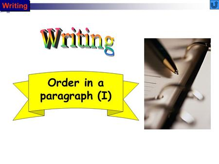 Writing Order in a paragraph (I) INTRODUCTION Now that you have learned how to achieve unity and coherence in the paragraph, your next concern is how.