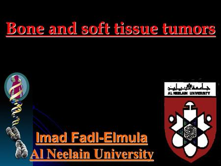 Bone and soft tissue tumors Imad Fadl-Elmula Al Neelain University.