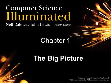 Chapter 1 The Big Picture.