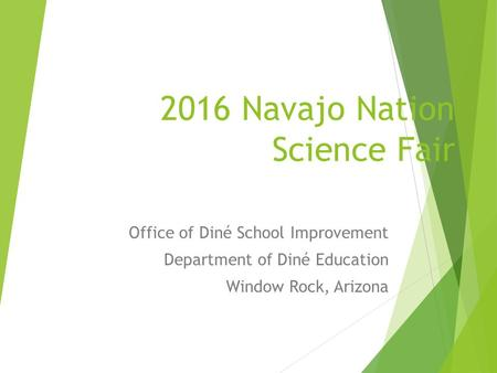 2016 Navajo Nation Science Fair