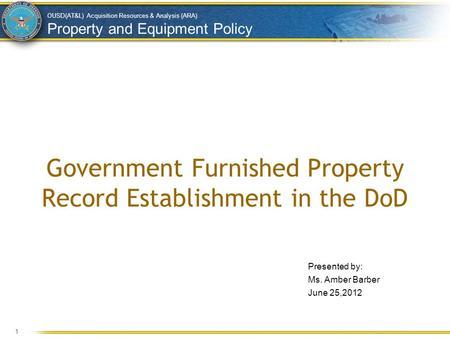Government Furnished Property Management Plan