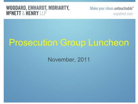 "Prosecution Group Luncheon November, 2011. Prioritized Examination—37 CFR 1.102 ""No fault"" special status under 1.102(e) Request made with filing of nonprovisional."