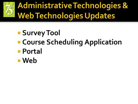  Survey Tool  Course Scheduling Application  Portal  Web.