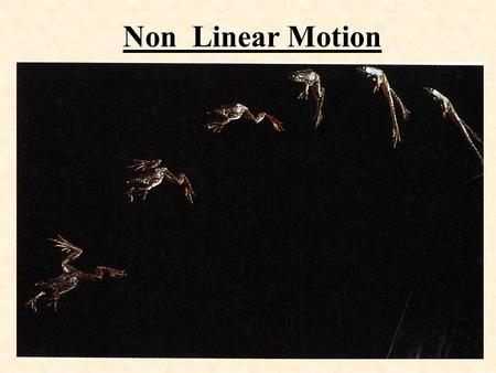 1 Non Linear Motion 2 Definitions: projectile - An object that is thrown,tossed, or launched. trajectory - The pathway of a projectile. Usually follows.