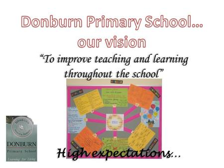 "High expectations… ""To improve teaching and learning throughout the school"""