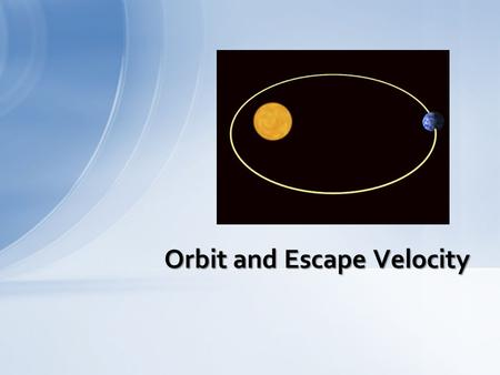 Orbit and Escape Velocity. Throw a ball straight up in the air and it falls back down. Have your strongest friend throw the ball and it might take a fraction.