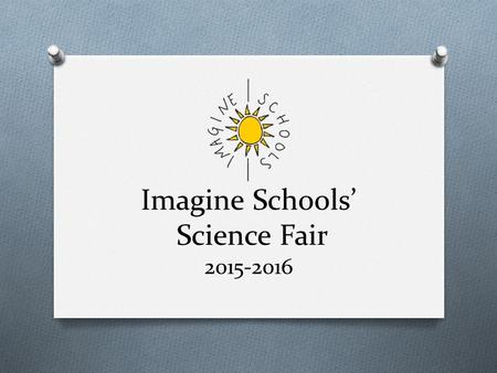 Imagine Schools' Science Fair 2015-2016. Imagine Schools' Science Fair Guidelines O Policies and rules used nationally by all Imagine Schools O Guidelines.