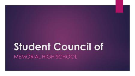 Student Council of MEMORIAL HIGH SCHOOL. MHS Student Council.