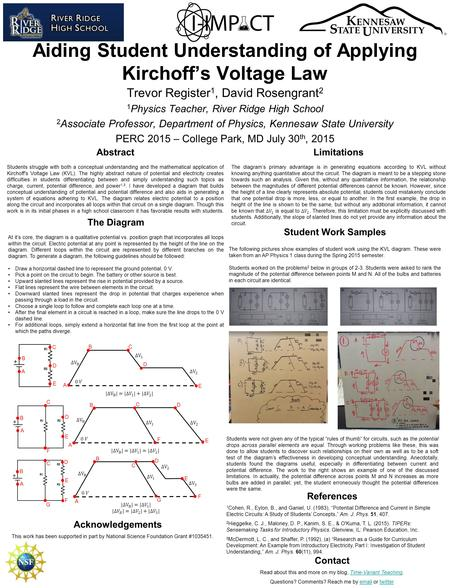 understanding dc circuit through ohms law and kirchhoffs rules We have a series-parallel circuit with a current passing through r1 and then about to enter node a  •the second law is kirchhoff's voltage law that.