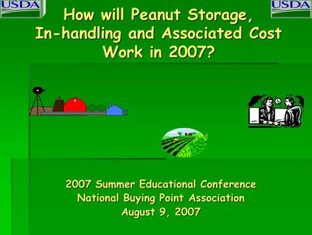 How will Peanut Storage, In-handling and Associated Cost Work in 2007? 2007 Summer Educational Conference National Buying Point Association August 9, 2007.