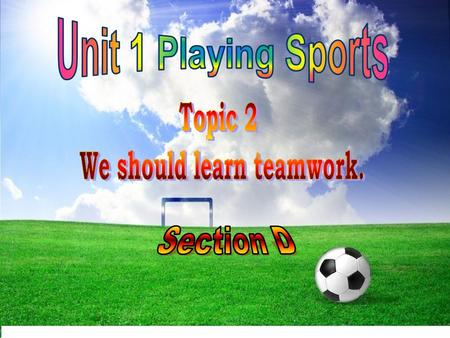 Do you like doing sports? What kind of sports do you like to play? Why?