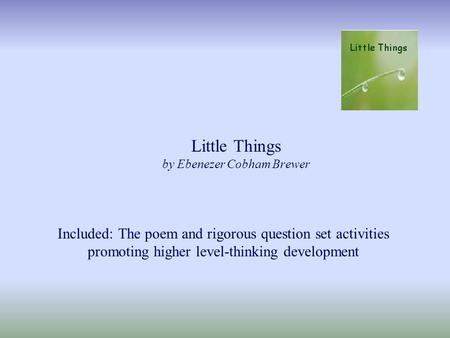Little Things by Ebenezer Cobham Brewer