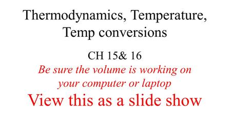 thermodynamics of a laptop computer In order to take full advantage of the software, participants will need to bring their own laptop computer that utilizes windows operating system 64 bit or higher computers should also be enables with microsoft excel 32-bit or higher in order to use the chemsheet software.