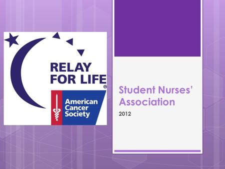 Student Nurses' Association 2012. History  Started 1985  Dr. Gordy Klatt  Ran 24 hours  $27,000  Largest non-for-profit activity.