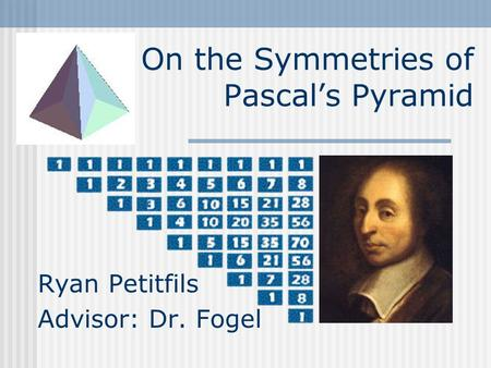 On the Symmetries of Pascal's Pyramid