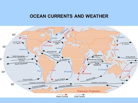 OCEAN CURRENTS AND WEATHER