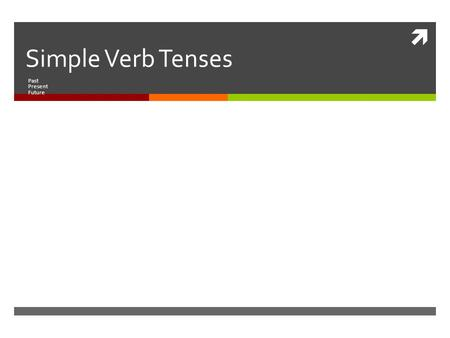  Simple Verb Tenses Past Present Future. Conjugation  I write.We write.  You write.You write.  He, she, it writes. They write.