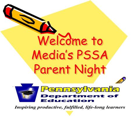 Welcome to Media's PSSA Parent Night. Reading in 2007 March 12-23, 2007 Grades 3, 4, 5, 6, 7, 8, & 11 Multiple-Choice Open-Ended Item-specific Scoring.