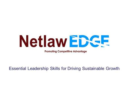 Essential Leadership Skills for Driving Sustainable Growth.