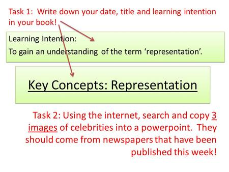 Key Concepts: Representation