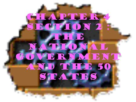 Chapter 4 section 2 : The National Government and the 50 States