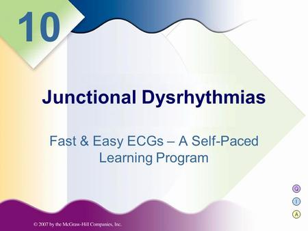Q I A 10 Fast & Easy ECGs – A Self-Paced Learning Program Junctional Dysrhythmias.