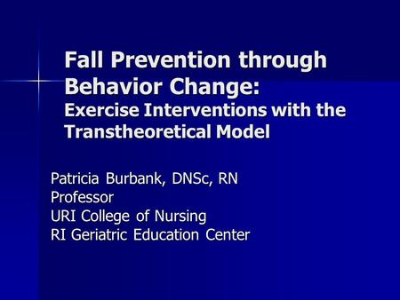 nursing theory and fall prevention Theory evaluation: orem in evaluating orem's self-care deficit nursing theory (scdnt) treatments to prevent blood clots and pneumonia after surgical procedures, and prevention of falls.