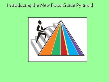Introducing the New Food Guide Pyramid Introducing the New Food Guide Pyramid.