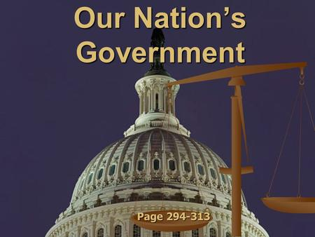 Our Nation's Government Page 294-313. Vocabulary Democracy - a government run by the people Democracy - a government run by the people Citizen - a member.