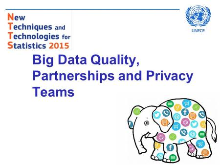 Big Data Quality, Partnerships and Privacy Teams.