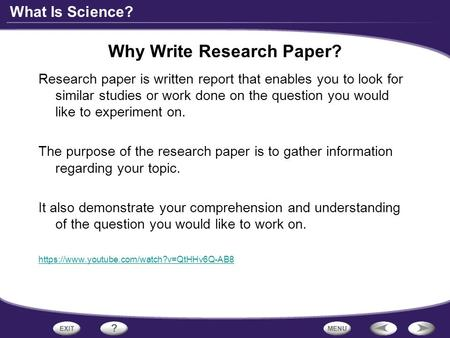 why write research papers Research ethos when writing a research paper in an academic setting, there is the element of ethos that researchers have to consider this is associated with the authority on the subject there.