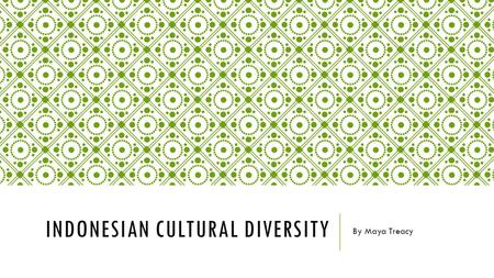 Indonesian Cultural Diversity