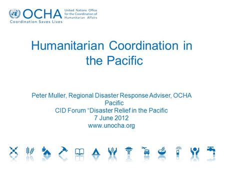 Humanitarian Coordination in the Pacific