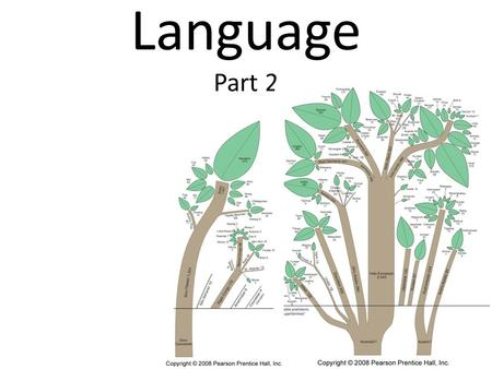 Language Part 2. Language Family: A collection of languages related through a common ancestral language that existed long before recorded history Language.