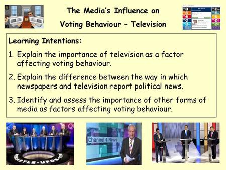 the media influence on votes Voting behaviour impact of the media newspapers television internet why might newspapers be able to influence voting behaviour in the uk2.