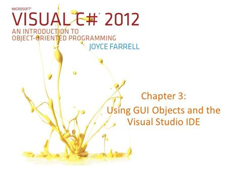 An Introduction To Programming Using Visual Basic. Net