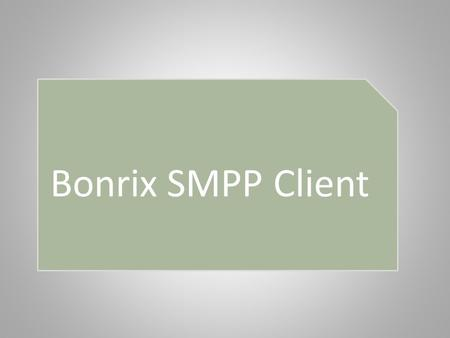 Bonrix SMPP Client. Index Introduction Software and Hardware Requirements Architecture Set Up Installation HTTP API Features Screen-shots.