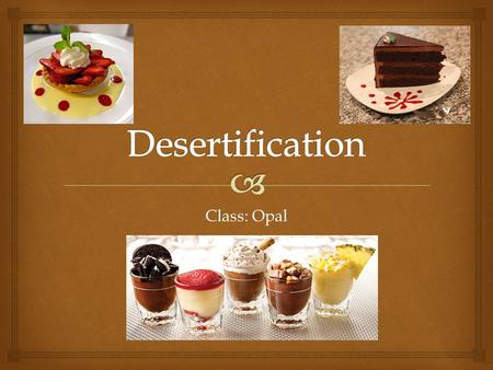Class: Opal.    Causes of Desertification (in the Sahel region)