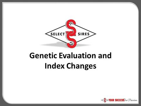 Genetic Evaluation and Index Changes. HA-USA Fertility Index Fertility Index =.64 x PTA Daughter Pregnancy Rate (DPR).18 x PTA Cow Conception Rate (CCR).18.