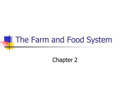 The Farm and Food System Chapter 2. Agriculture's Role in US Economy What do you consider Agriculture? Agriculture includes: Family Farms Corporate Farms.